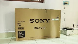 Sony W62E TV Unboxing and Fitting | Smart Tv | Sony HD TV | Unboxing Videos 2018