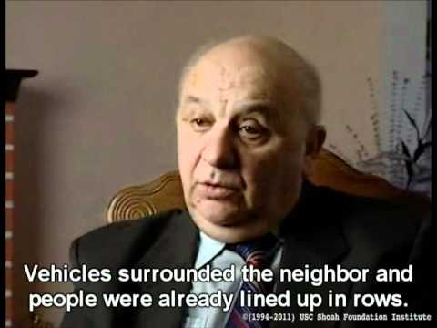 Holocaust Survivor Testimony: Mikhail Yablochnik, part 1/4