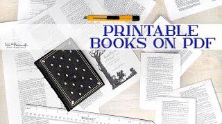 PRINTABLE BOOKS ON PDF | New Digital Downloads