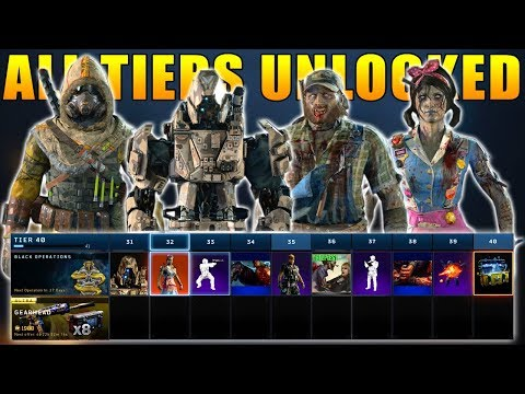Black Ops 4: Operation Apocalypse Z All 40 Tiers Unlocked (New Black Market)