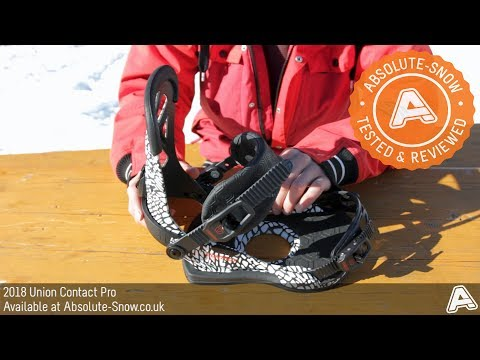 2017 / 2018 | Union Contact Pro Snowboard Bindings | Video Review