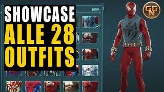 Marvel's Spiderman 4 PS4 Guide - Showcase - Alle 28 Anzüge / Outfits von Spider-Man