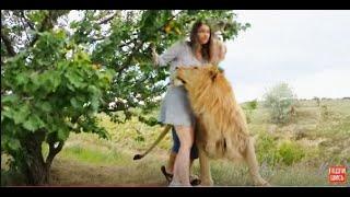 Девушка попала ко львам в Сафари и ей стало плохо !!!.Тайган