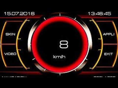 Démonstration mediaskin sur un medianav ( thème animation + compteur de vitesse )