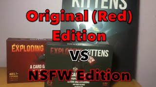 Authentic VS Fake Exploding Kittens (Side-by-Side) Original vs NSFW Edition