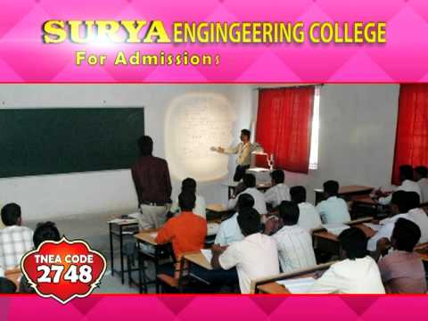 Ours is an Engineering College, located at Erode, Tamilnadu (Erode - Perundurai highway). Offers ----  MBA, BE - Mechanical, ECE, Civil, EEE, CSE & IT.   Uploaded by erodesurya on May 20, 2011   Surya Engineering College, Erode