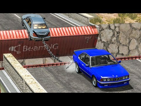 TUG OF WAR & CHAINED CARS CRASHES - BeamNG Drive