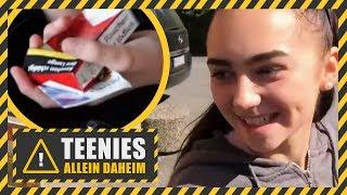 Elena (16) & Angelina (13) kaufen ZIGARETTEN! | Teenies allein daheim | Kabel Eins