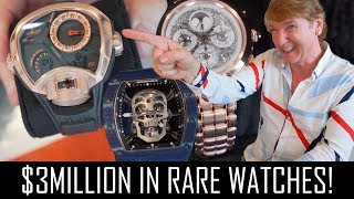 $3MILLION IN RARE LUXURY WATCHES!