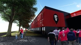 Proposed stadium designs for Salford City FC's new Moor Lane stadium