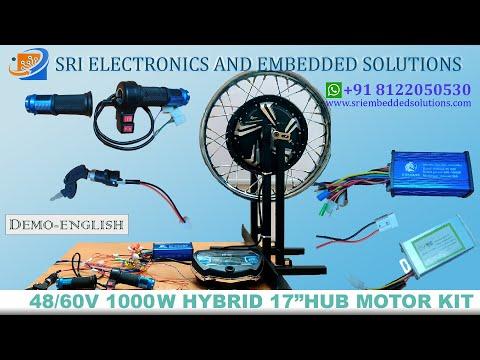 48v 1000w BLDC Hub Motor 17 Inch With Disc Brake For Bikes Like Splendor,Passion Pro