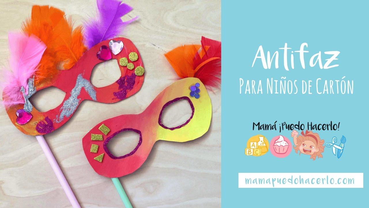 Cómo hacer Antifaz para niños de cartón