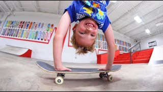 9 YEAR OLD VS DEADLY SKATE TRICK! / Warehouse Wednesday