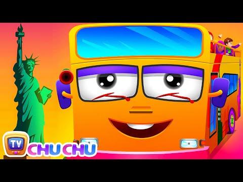 Download Wheels On The Bus | New York City | Popular Nursery Rhyme by ChuChu TV HD Video