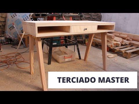 Cómo hacer un escritorio con el terciado master mueblería de Arauco Parte 1