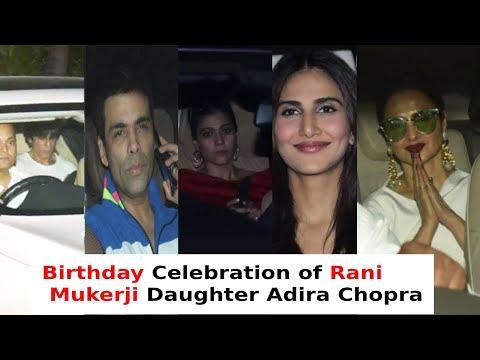 Rani Mukerji's daughter Adira 4th birthday GRAND Celebration with SRK,REKHA & Bollywood Stars|