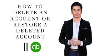 How to delete an account or restore a deleted account in Quickbooks Online