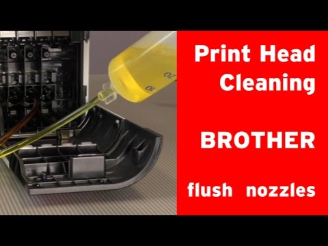 How to clean a Brother inkjet printer´s print head?