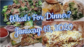 What's For Dinner? Jan 19, 2020   Cooking for Two   Easy Weeknight Meals