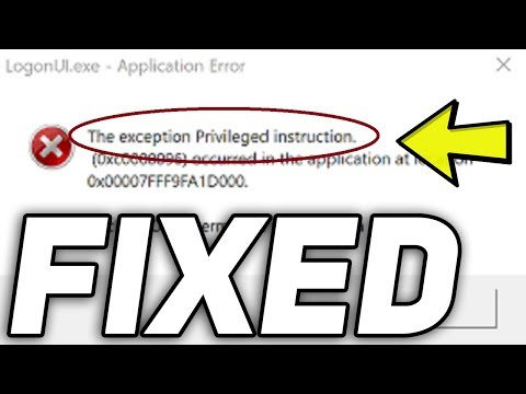 Fix: The exception privileged instruction Error in Windows