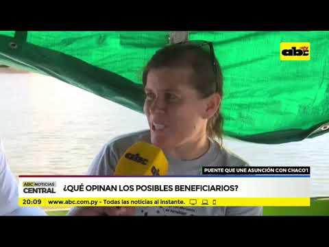 Puente que une Asunción - Chaco`i: ¿Que opinan los posibles beneficiarios?