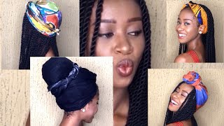 preview picture of video 'Eight Easy Head Wrap Styles For Braids, Twists & Faux Locs'