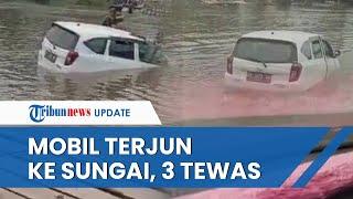 Video Detik-detik Mobil Putih Isi 8 Penumpang Keluarga Terjun ke Sungai di Konawe, 3 Orang Tewas