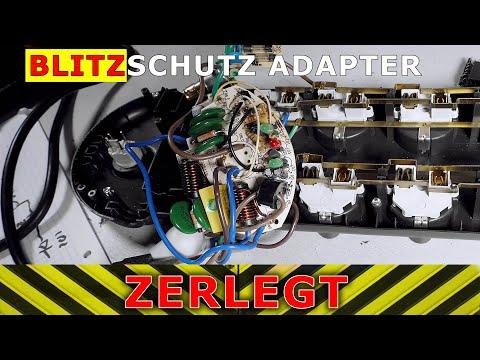 Überspannungsschutz Adapter seziert