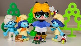 Кукла ЛОЛ Сюрпризы Игрушки Смурфики Мультик Видео для детей LOL Dolls and The Smurfs surprise toys