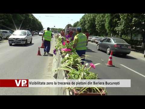 Vizibilitate zero la trecerea de pietoni din Bariera București