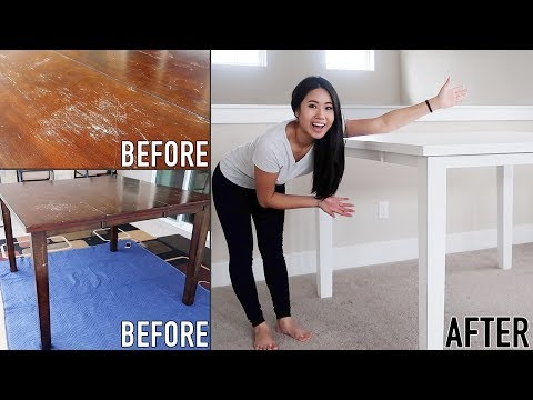 How To Paint & Refinish Furniture without Sanding | On A Budget | For Beginners | DIY | Rust-Oleum