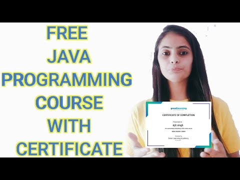 Free Java Programming Course with certificate / Free online Course with certificate