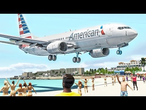 LOW Landings at St. Maarten - X-Plane 11 Plane Spotting