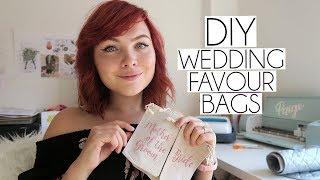 DIY Personalised Name Wedding Favour Bags Using Iron On Vinyl