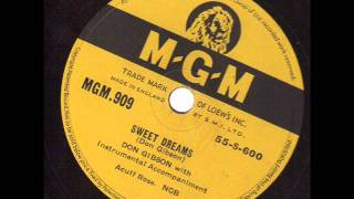 Don Gibson  Sweet Dreams  MGM 909