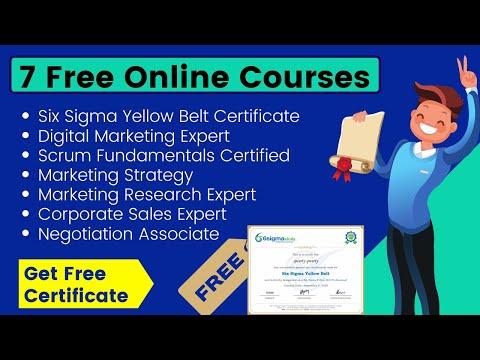 7 Free Certification Courses 2020 | Free Six Sigma Yellow Belt ...