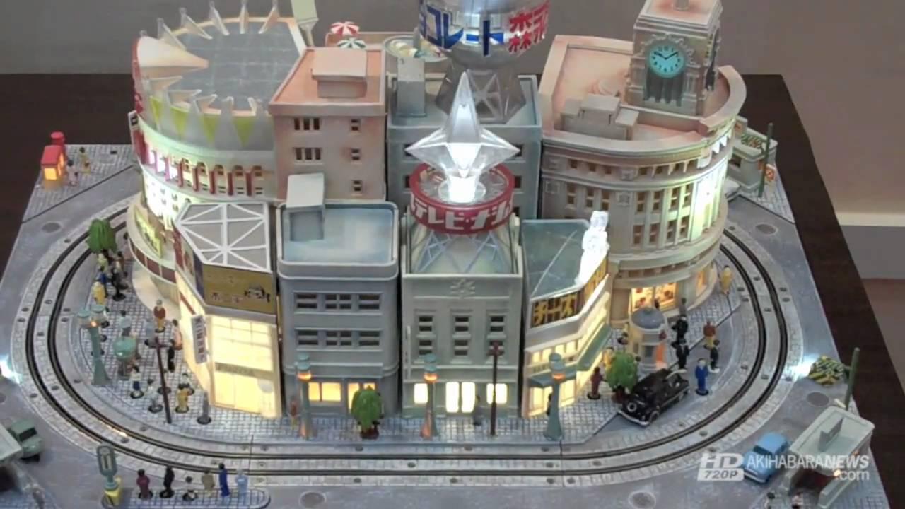 Bandai's Amazing Ginza-Circa-1955 Animated Diorama Speaker: Captured On Video!