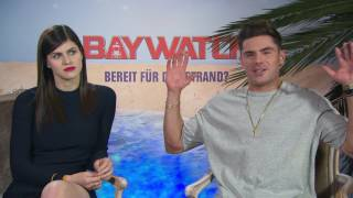 BAYWATCH Zac Efron & Alexandra Daddario - Boyfriend - love - couple - beach - spricht Deutsch