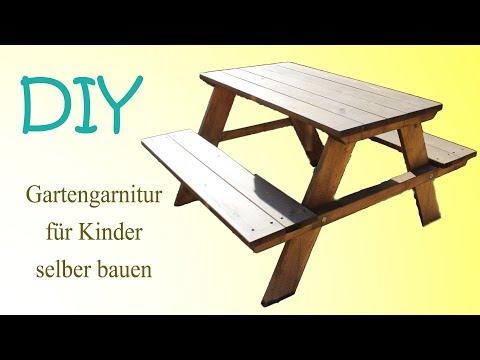 Gartengarnitur für Kinder selber bauen DIY