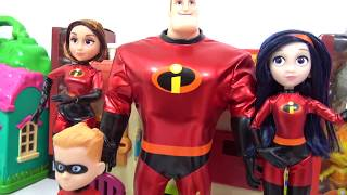 Learning Colors with THE INCREDIBLES 2 Characters Slime Surprises