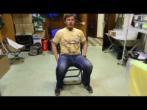 Складной стул Greenell «FC-16 R22». Видеообзор.