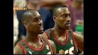 1996 NBA Finals Chicago - Seattle Game 6 from DSF