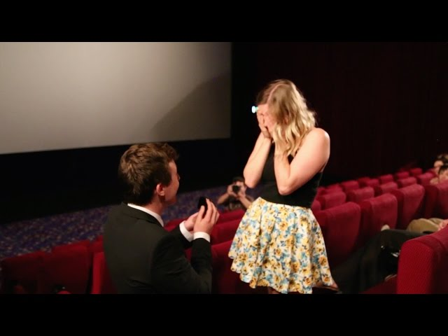 This Adorable Movie Theatre Proposal Was Months In The Making And