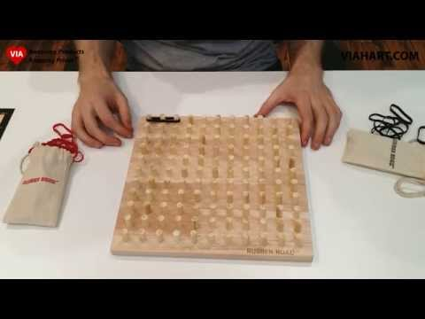 Rubber Road Rubber Band Board Game   Rules & How to Play