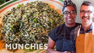 Dirty Rice With Mashama Bailey & Johno Morisano | Quarantine Cooking by Munchies