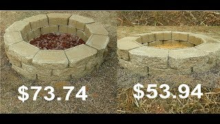 How To Build A Fire Pit Under $60 Easy Simple