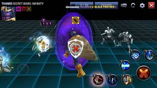Marvel future fight all Thanos skills and outfits.