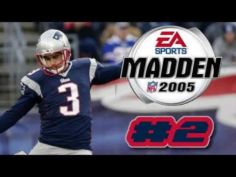 Madden NFL 2005 PS2 2019 New England Patriots Franchise Mode Ep.2 (DEFENSIVE SLUGFEST VS BILLS)