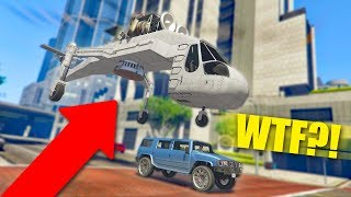 SHE WAS SO CONFUSED! *CARGOBOB TROLLING!*   GTA 5 Funny Moments