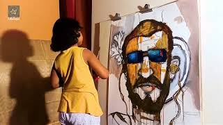 Most Youngest Contemporary Painting Artist Prakritee ... She Is Nine Years Old Only.